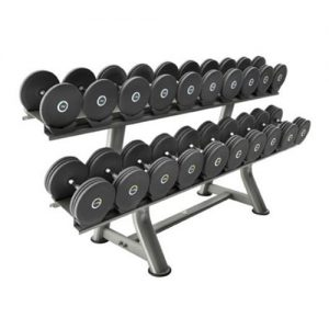 Pulse 135F Grey Rubber Covered Dumbbells Set