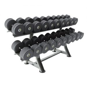 Pulse 140G Grey Rubber Covered Dumbbell Set
