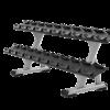 Precor DBR0812 2 Tier, 10 Pair Dumbbell Rack