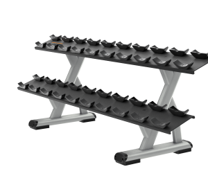 Precor DBR0812 2 Tier, 10 Pair Dumbbell Rack
