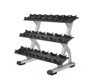 Precor DBR0814 3 Tier, 10 Pair Dumbbell Rack